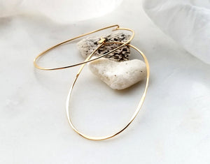 Fail Jewelry 14K Yellow Gold Filled Large Oval Hoop Earrings