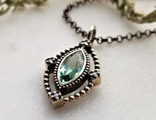 Load image into Gallery viewer, Modern Vintage Concept Tourmaline Pendant