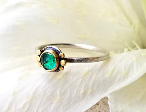 Ananda Khalsa Emerald Ring