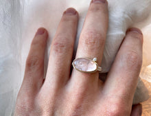 Load image into Gallery viewer, Jamie Joseph Oval Morganite with Satellite Diamond Ring