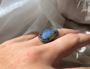 Chikahisa Small Labradorite Gemstone Ring
