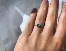 Load image into Gallery viewer, Ananda Khalsa Emerald Ring