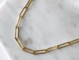 Strut Jewelry 14K Gold-Filled Flat Link Connection Chain Necklace