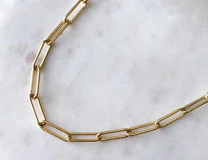 Strut Jewelry 14K Gold-Filled Smooth Link Connection Chain Necklace