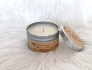 """Yoga Candle"" By Salt and Spring Island Co."