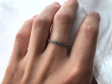 Load image into Gallery viewer, Modern Vintage Concept Blue Sapphire Family Band