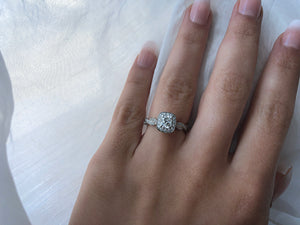 Classic Concept Twisted Diamond Engagement Ring