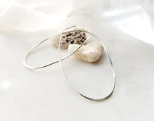Load image into Gallery viewer, Fail Large Sterling Silver Oval Hoop Earrings