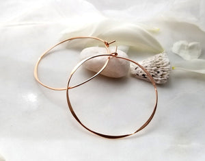 Fail Jewelry 14K Rose Gold Filled Large Round Hoop Earrings