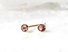 Load image into Gallery viewer, Modern Vintage Concept Mini Precious Topaz Stud Earrings