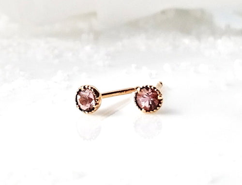 Modern Vintage Concept Mini Precious Topaz Stud Earrings