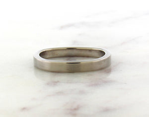 Gents Concept 3mm Palladium White Gold Band