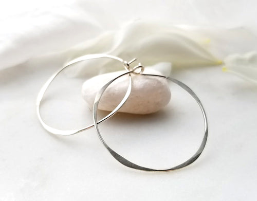 Fail Jewelry Sterling Silver Medium Round Hoop Earrings