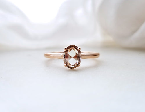 Modern Vintage Oval Rose Cut Brown Diamond
