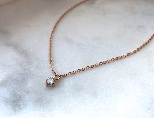 Modern Vintage Concept Rose Gold Diamond Satellite Pendant