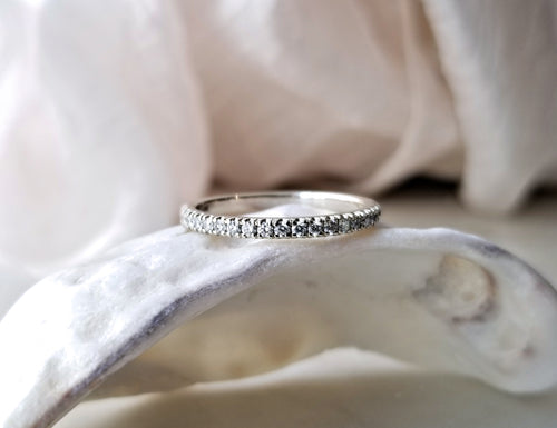 Modern Vintage Concept Diamond Wedding Band
