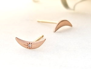 Sirciam Crescent Moon Studs