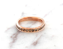 Load image into Gallery viewer, Contemporary Concept Band with Natural Brown Diamonds