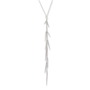 Marion Cage Sterling Silver Small Point Long Drop Necklace