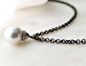 Classic Concept Pearl and Diamond Pendant