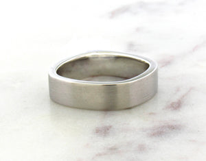 Gents Concept 6mm Wide Platinum Band