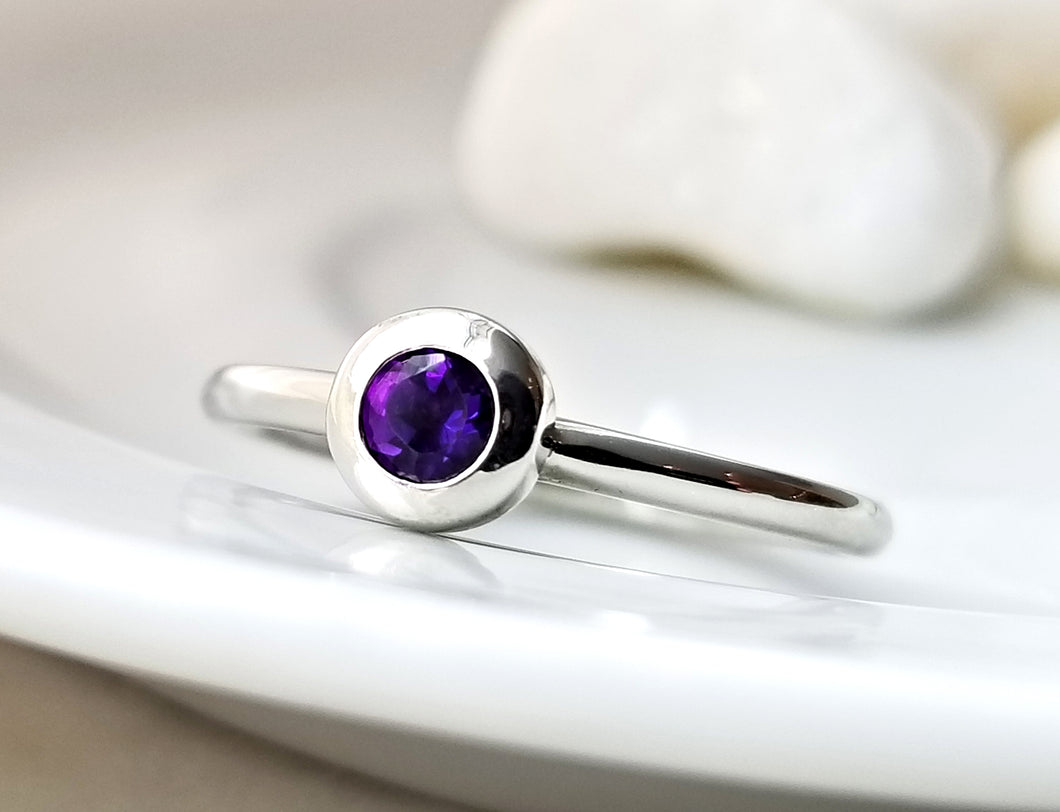 Family Concept Amethyst Ring