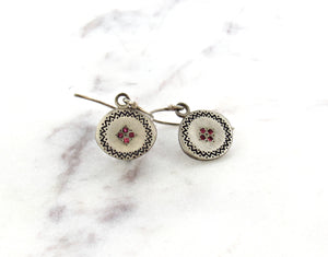 Adel Chefridi Memories Four Star Ruby Earrings