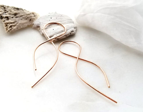 Fail 14K Rose Gold Filled Small Infinity Earrings