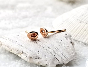 Johanna Brierley Rose Gold Freckle Earrings