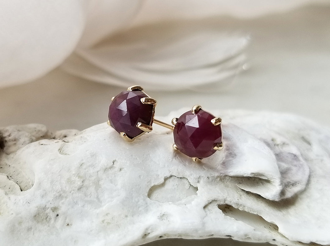 Jamie Joseph 14K Yellow Gold Ruby Stud Earrings