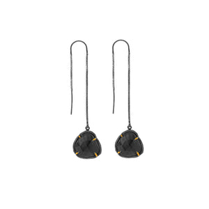 Chikahisa Salt And Pepper Quartz Drop Earrings