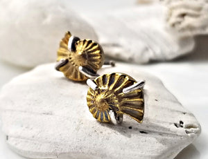 Melissa Joy Manning Ammonite Stud Earrings
