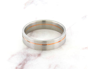 Christian Bauer Platinum And Red Gold Band