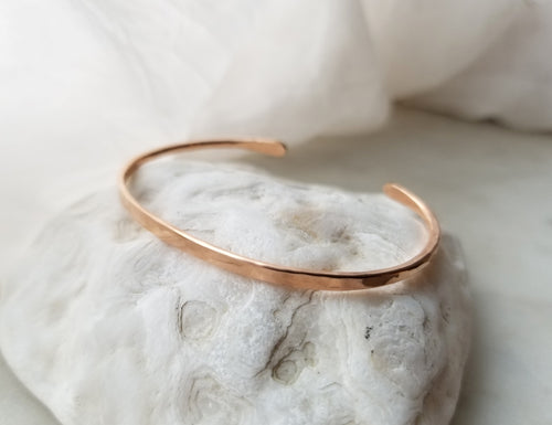 Fail Jewelry 14K Rose Gold Filled Medium Simple Forged Cuff Bracelet