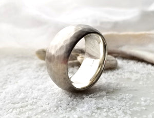 Toby Pomeroy Silver Euro Dom Plainshed Ring