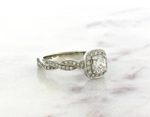 Load image into Gallery viewer, Classic Concept Twisted Diamond Engagement Ring
