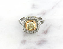 Load image into Gallery viewer, Modern Vintage Concept Natural Yellow Diamond Ring