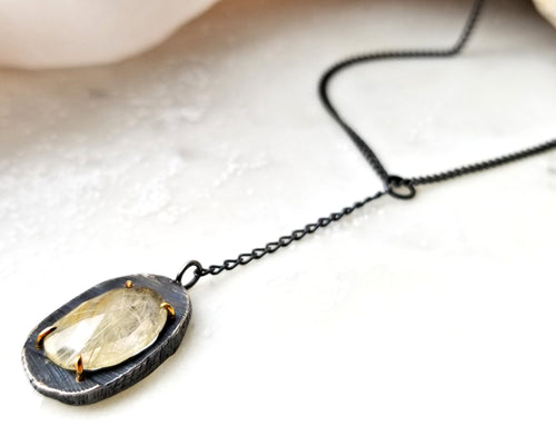 Chikahisa Mystic Pendant With Rutilated Quartz