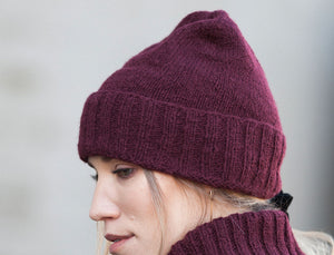 Bare Knitwear Classic Traditional Hand Knit Beanie In Brick
