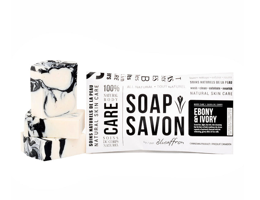 Blusaffron Ebony & Ivory Face Soap