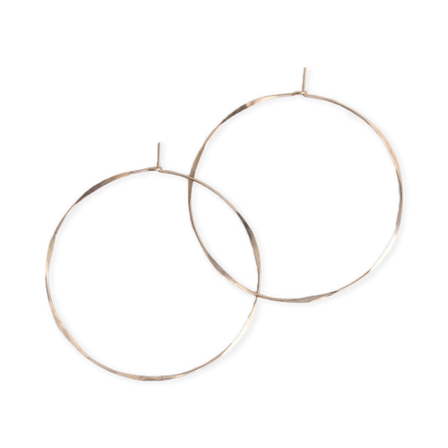 Fail Jewelry 14K Yellow Gold Filled Large Round Hoop Earrings
