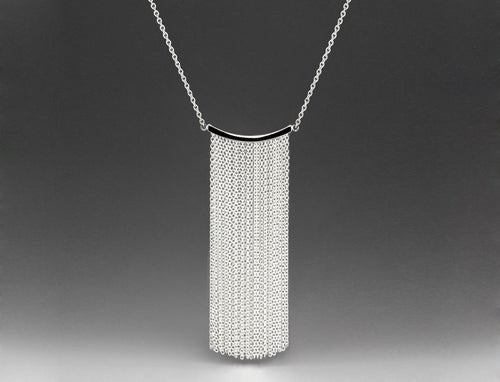 Andrea Blais Silver Large Fringe Necklace