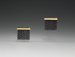 Andrea Blais Small Two Tone Fringe Stud Earrings *SPECIAL ORDER*