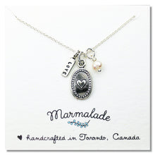 Load image into Gallery viewer, Marmalade Designs Silver Oval Heart Charm Necklace