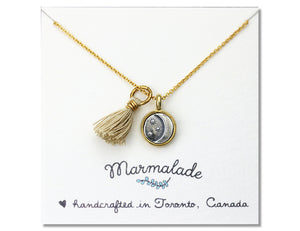 Marmalade Designs Moon & Stars Charm With Tassel