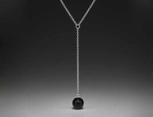 Andrea Blais Large Black Onyx Drop Pendant