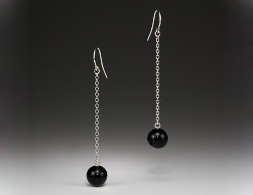 Andrea Blais Large Onyx Drop Earrings
