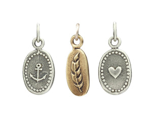 Marmalade Designs Silver & Bronze Tiny Oval Charms