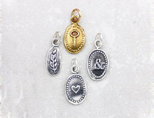 Load image into Gallery viewer, Marmalade Designs Silver & Bronze Tiny Oval Charms