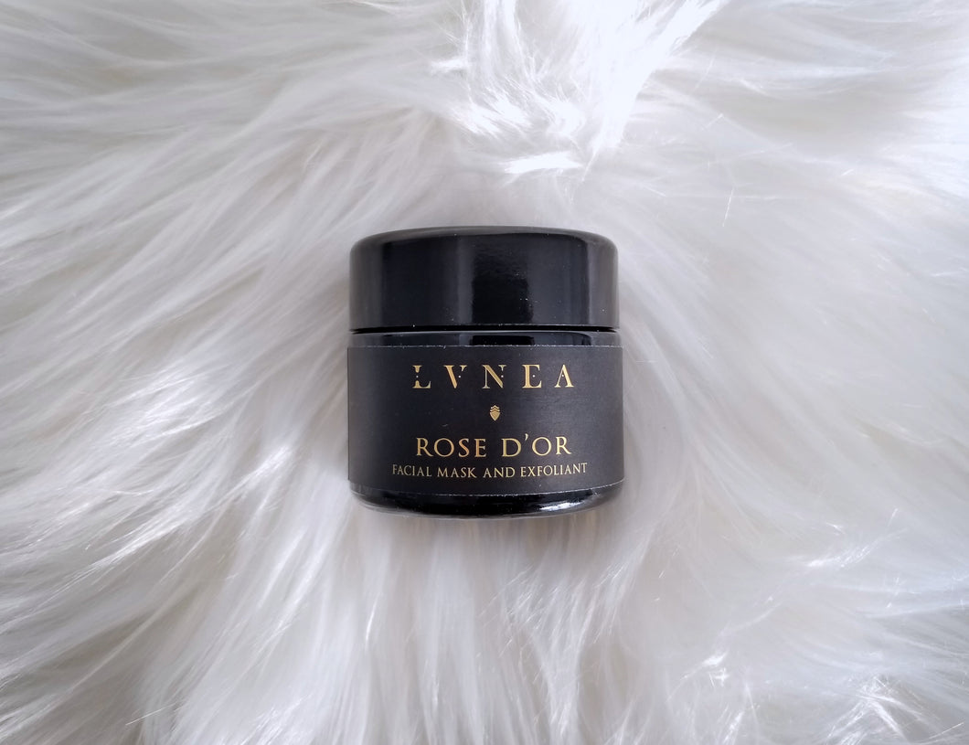 LVNEA Rose d'Or Facial Mask and Exfoliant